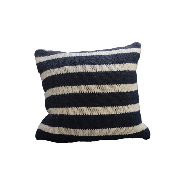 Vintage White Pin Stripe Pillow - Image 1 of 2