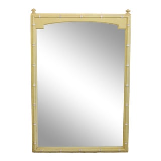 Faux Bamboo Canary Yellow Mirror For Sale