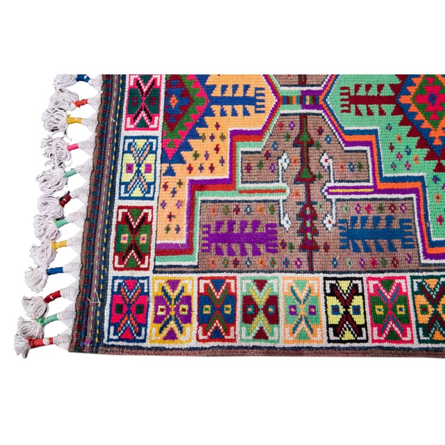 Mid-20th Century Colorful Vintage Turkish Wool Runner Rug 3 X 13 For Sale In New York - Image 6 of 12