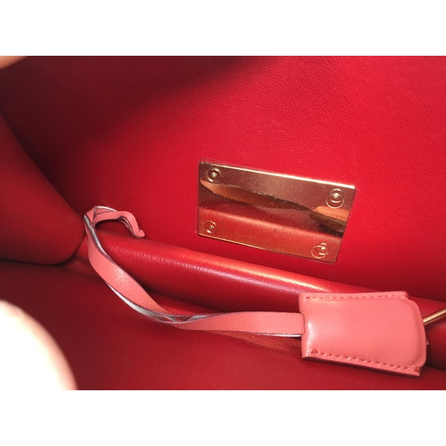 Beautiful Rouge Box Leather Salvatore Ferragamo Top Handle or Cross Body Bag For Sale - Image 11 of 12