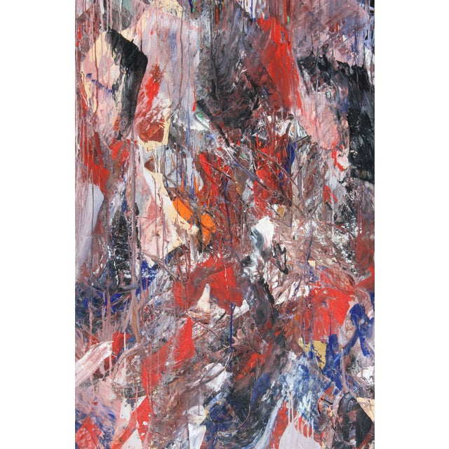 1980s Monumental Abstract Oil on Canvas Signed Dehais For Sale - Image 5 of 10