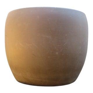 Mid Century Gainey Ceramics J-14 Brown Planter Pot For Sale