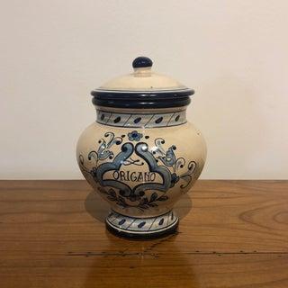 Italian Ceramic Origano Marjoram Canister Preview