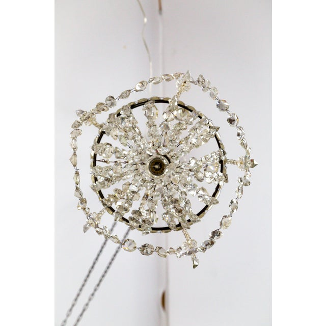 Metal Delicate Crystal & Wire French Regency Tent Chandelier For Sale - Image 7 of 13