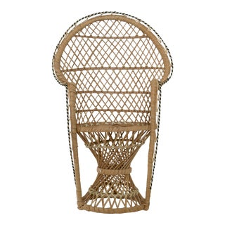 Mini Fan Back Peacock Chair Plant Stand For Sale