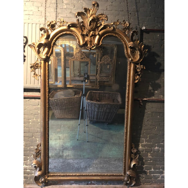 Metal 19th Century Mirror For Sale - Image 7 of 9