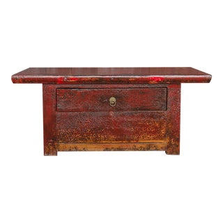 Antique Red Altar Table For Sale