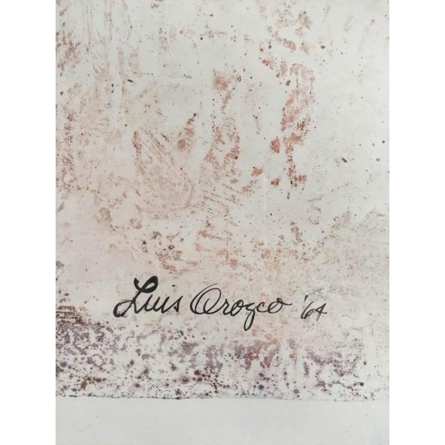"Luis Orozco '64 ""Centurion"" Emulsion Print Original 22 x 31 Frame Size Excellent For Sale - Image 4 of 5"