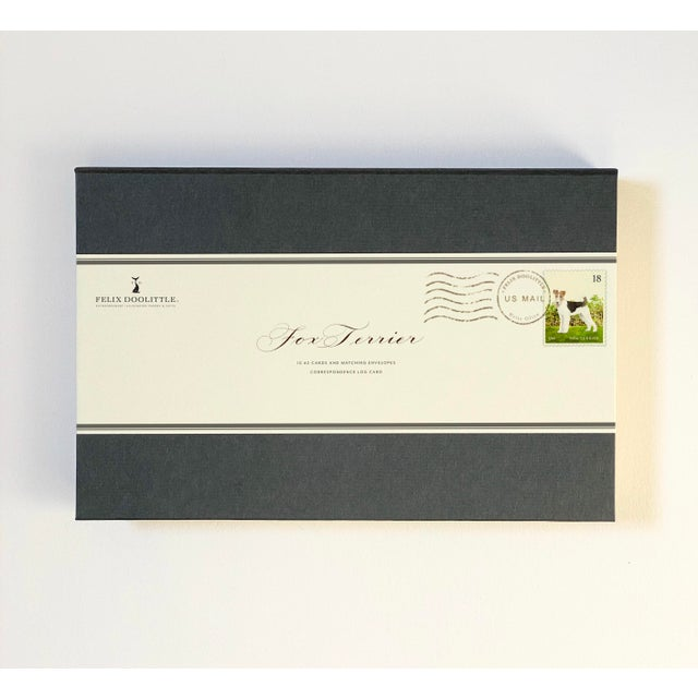 Fox Terrier Boxed Stationery - Folded Cards - Set of 10 For Sale - Image 4 of 6