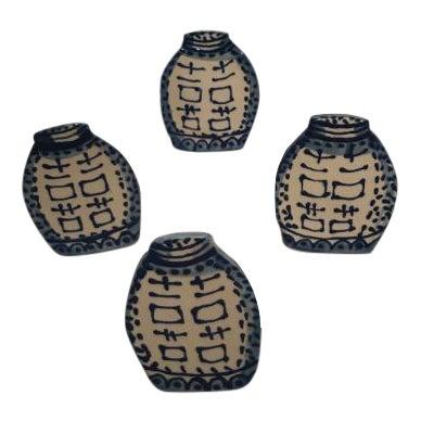 Ceramic Ginger Jar Napkin Rings - Set of 4 - Image 1 of 5