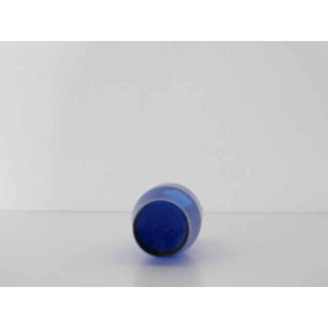 Cobalt Blue Bottle with Handles - Image 4 of 5