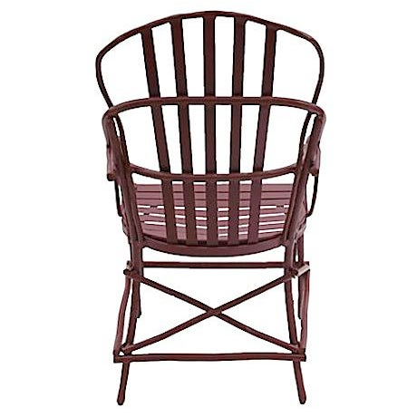 Genesee River Faux Bois Aluminum Arm Chair For Sale - Image 4 of 6