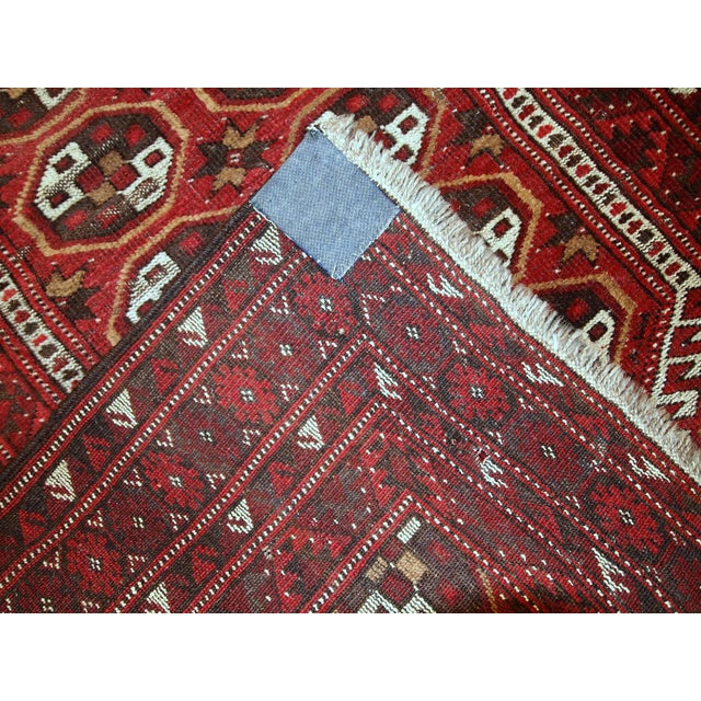 1920s Antique Afghan Adraskand Hand Made Prayer Rug - 2'7'' X 3'7'' For Sale - Image 4 of 10