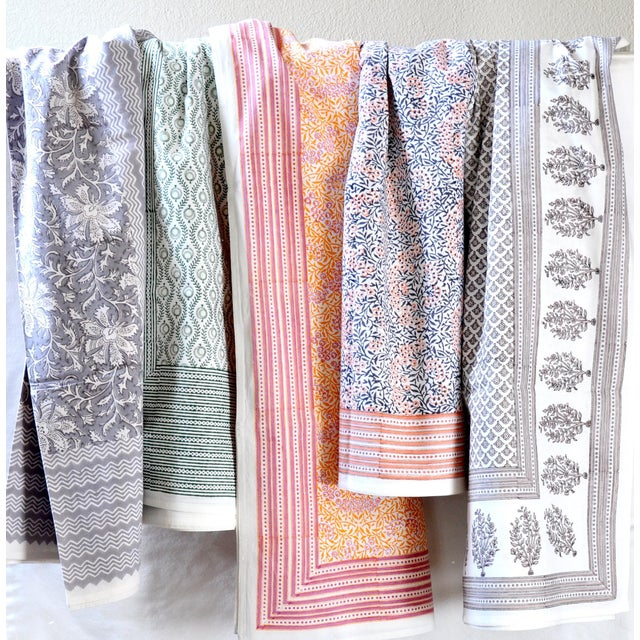 European Handmade Block Print Tablecloth - Image 7 of 7