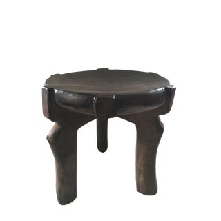 """Old Carved Wood Stool Hehe Gogo People Tanzania African 11"""" H For Sale"""