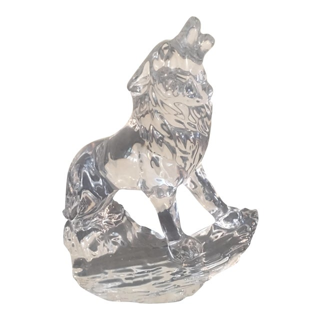 Vintage Crystal Wolf From Germany For Sale