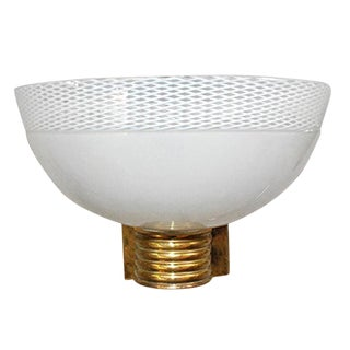 Venini Murano Bowl Sconce For Sale
