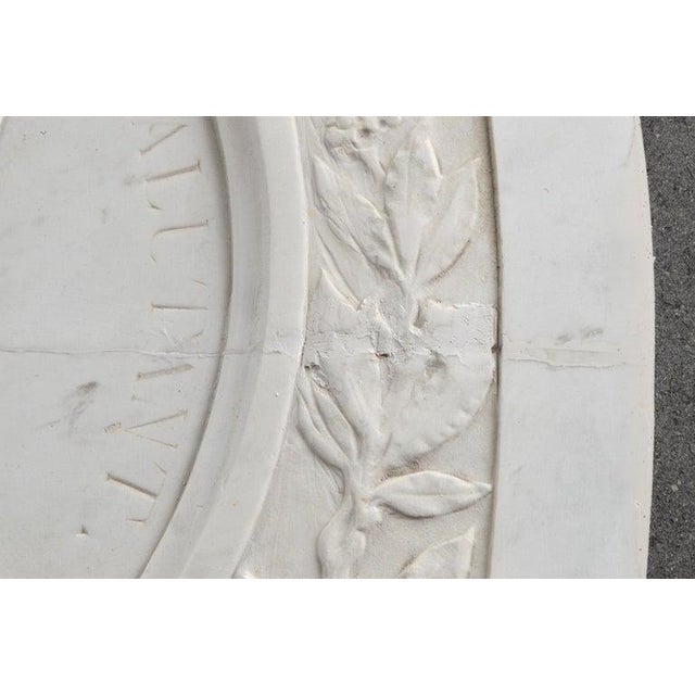 Large 19th Century Oval Marble Relief of the Roman Emperor Claudius With Eagle For Sale In Miami - Image 6 of 10
