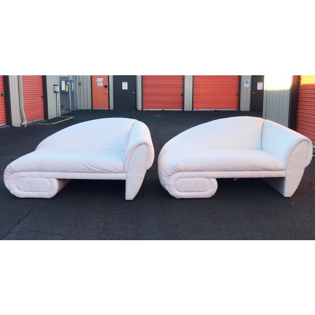Sculptural Cloud Chaise Lounge Sofas by Marge Carson -A Pair For Sale - Image 12 of 12