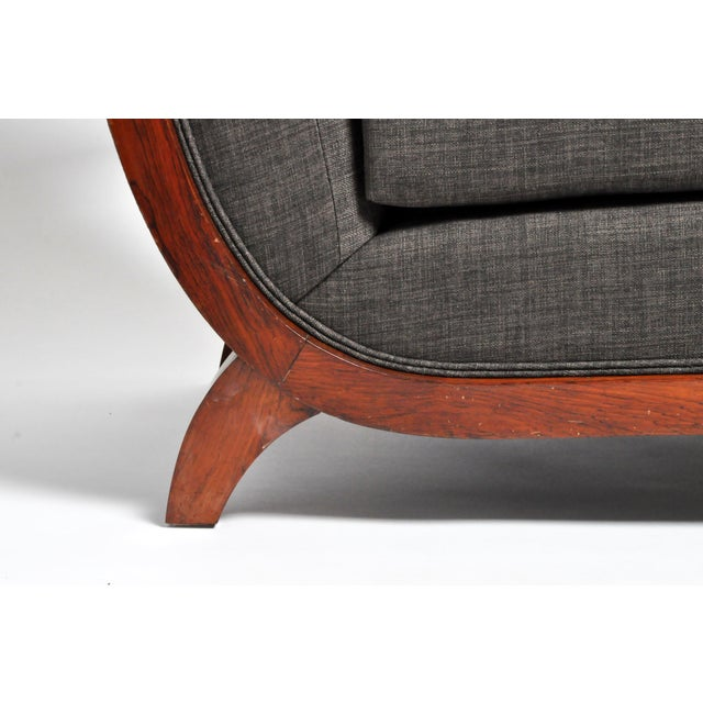 Hungarian Art Deco Solid Walnut Chair For Sale - Image 12 of 12