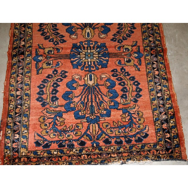 1920s, Handmade Antique Persian Lilihan Rug 4.9' X 6.7' For Sale In New York - Image 6 of 7