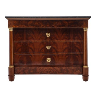 Empire Period Chest With Marble Top For Sale