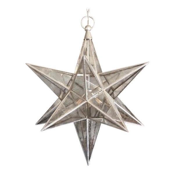 Visual Comfort Burnished Silver Moravian Star Pendant Light For Sale