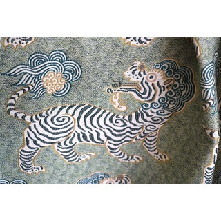 Tibet Basil Green Upholstery Fabric by the Yard For Sale