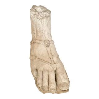 Vintage Neoclassical Roman Foot Concrete Sculpture For Sale