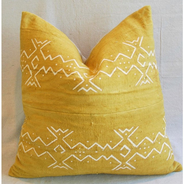 Handwoven Gold & Cream Tribal Feather & Down Pillow - Image 2 of 6