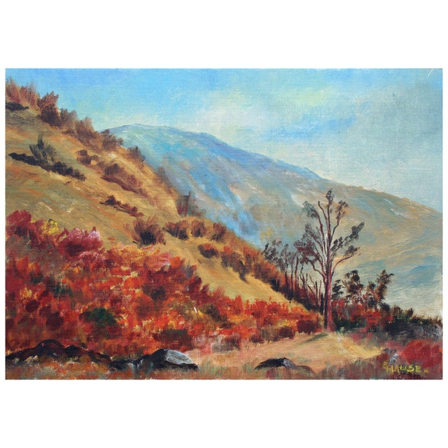 California Hills Painting by Hauser For Sale