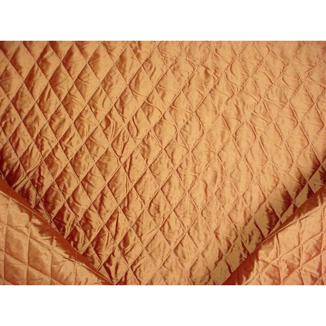 Kravet Silk Quilt Platinum Bronzy Brown Matelasse Upholstery Fabric - 4 5/8 Yards For Sale