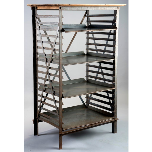 ndustrial Blue Metal Adjustable Shelf Unit - Image 8 of 8