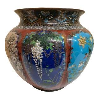 Antique Cloisonne Jardiniere China Cachepot For Sale