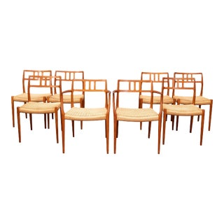 Scandinavian Modern Niels O. Moller Model 79 Dining Chairs For Sale