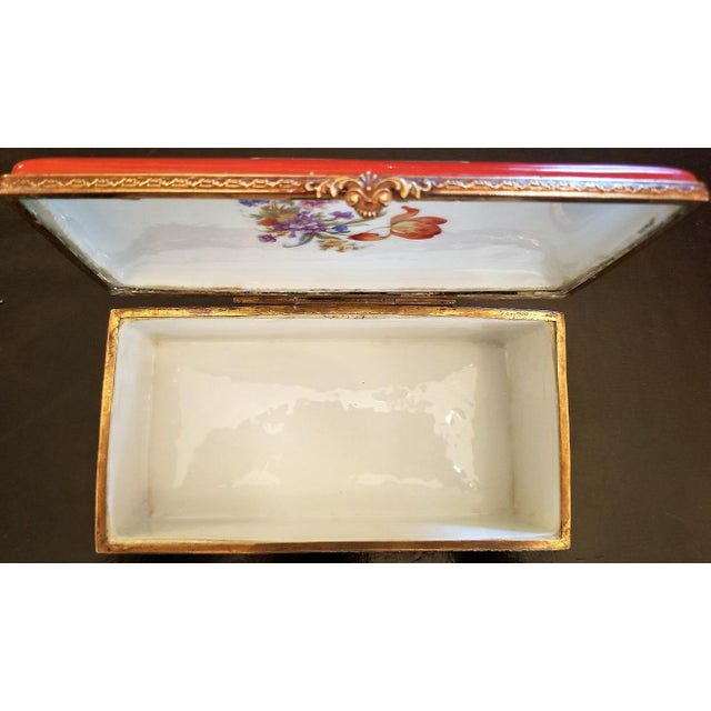 19th C. Sevres Porcelain Trinket Box With Ring Tray - Set of 2 For Sale - Image 10 of 13
