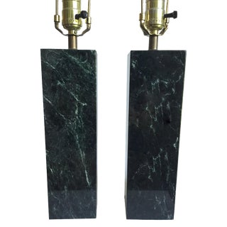 Robjohn-Gibbings-Style Marble Lamps - A Pair For Sale