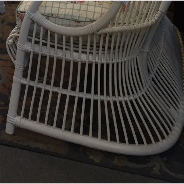 White Rattan Love Seats - A Pair - Image 6 of 8