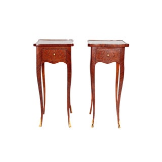 Pair of Petite Louis XV Transitional-Style Side Tables For Sale