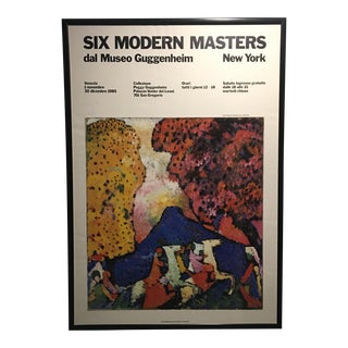 Six Modern Masters Guggenheim Exhibit Poster 1985 For Sale