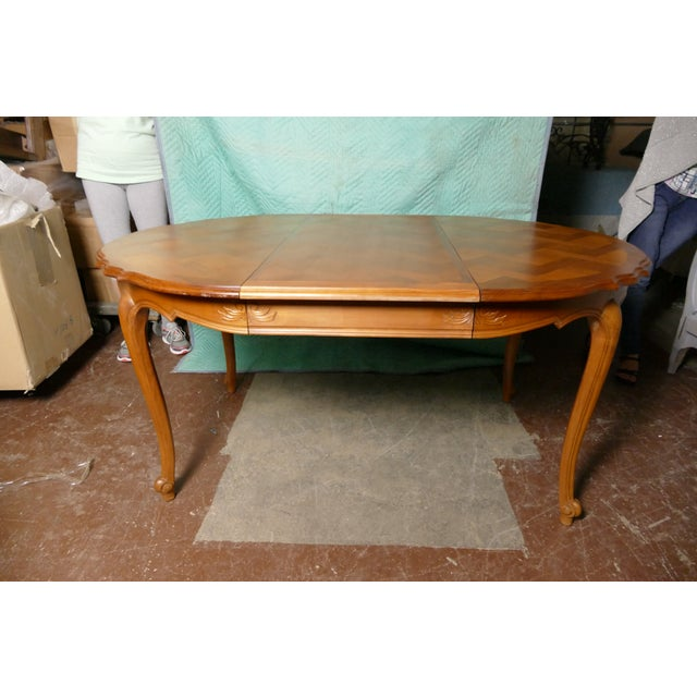 French Cherry Draw-Leaf Table - Image 3 of 6