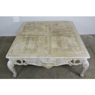 French Provincial Style Carved Wood Painted Coffee Table, Circa 1930s Preview