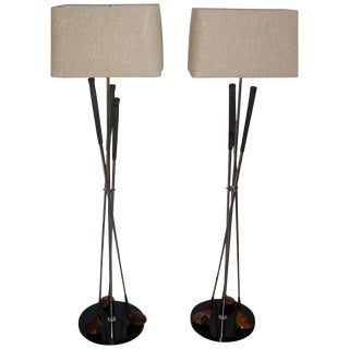 Golf Club Floor Lamps - a Pair For Sale