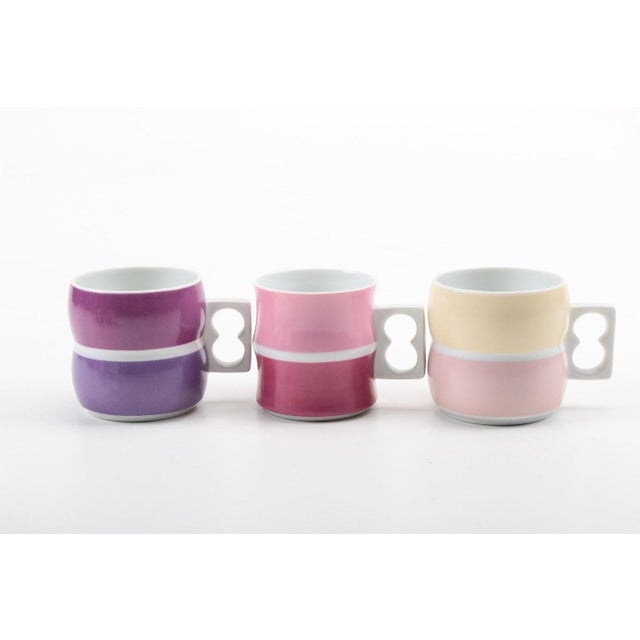 Vintage Block Chromatics Tea Set - Set of 12 - Image 5 of 10