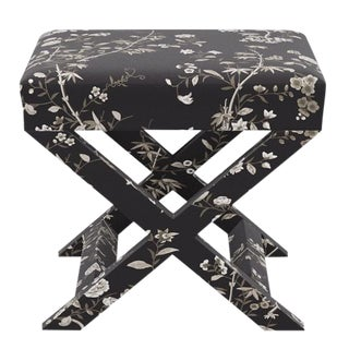 X Bench in Black Bamboo Garden For Sale