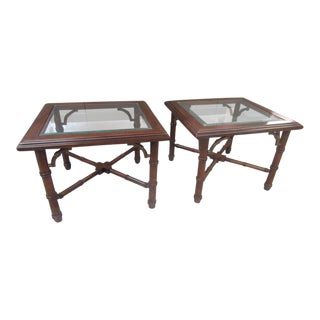 Faux Bamboo Occasional Tables - A Pair