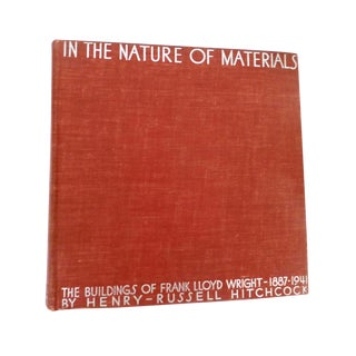In the Nature of Materials, Frank Lloyd Wright Book For Sale