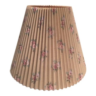 Laura Ashley Pleated Floral Lamp Shade For Sale