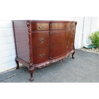 1940s Vintage Chinese Chippendale Mahogany Carved Dresser Preview