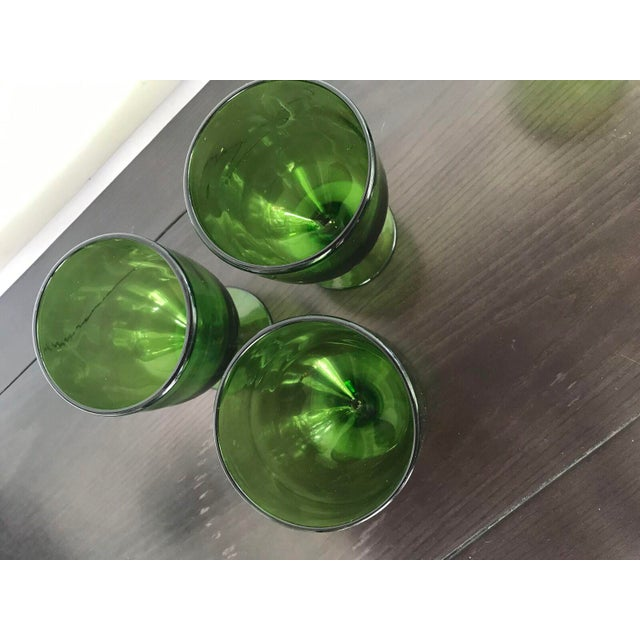 Vintage Green Dessert Glasses - Set of 8 - Image 6 of 6